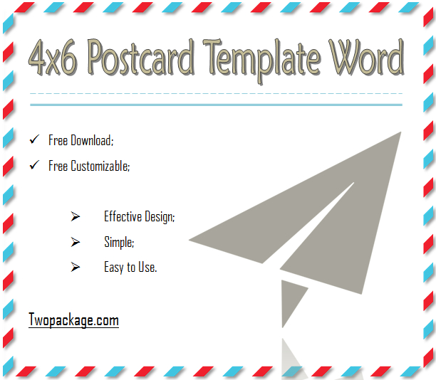 Free Blank Postcard Template for Word (Page 11) - Line.111QQ Inside Microsoft Word 4x6 Postcard Template 2
