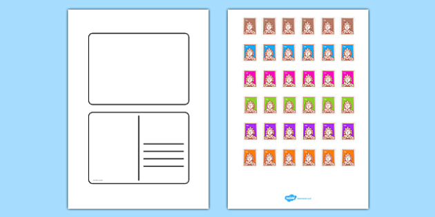 FREE! - Blank Postcard Templates In Free Blank Postcard Template For Word Intended For Free Blank Postcard Template For Word
