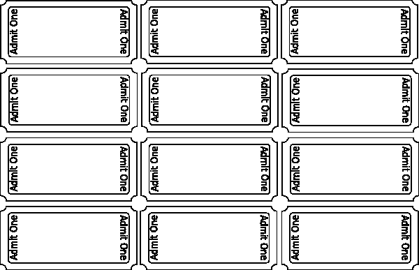 Free Blank Ticket Cliparts, Download Free Clip Art, Free Clip Art  Inside Blank Admission Ticket Template