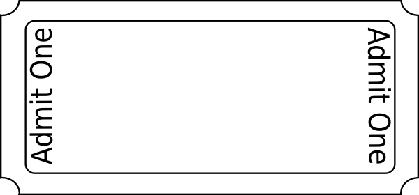 Free Blank Ticket, Download Free Clip Art, Free Clip Art on  Inside Blank Admission Ticket Template Regarding Blank Admission Ticket Template