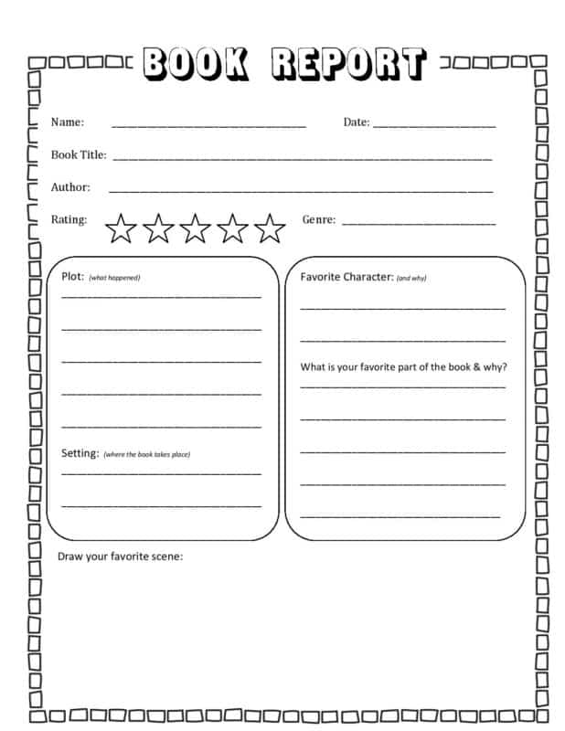 FREE Book Report Template For Book Report Template 4th Grade Regarding Book Report Template 4th Grade