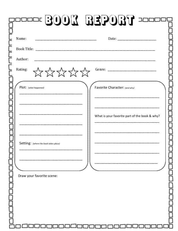 FREE Book Report Template In Second Grade Book Report Template Within Second Grade Book Report Template