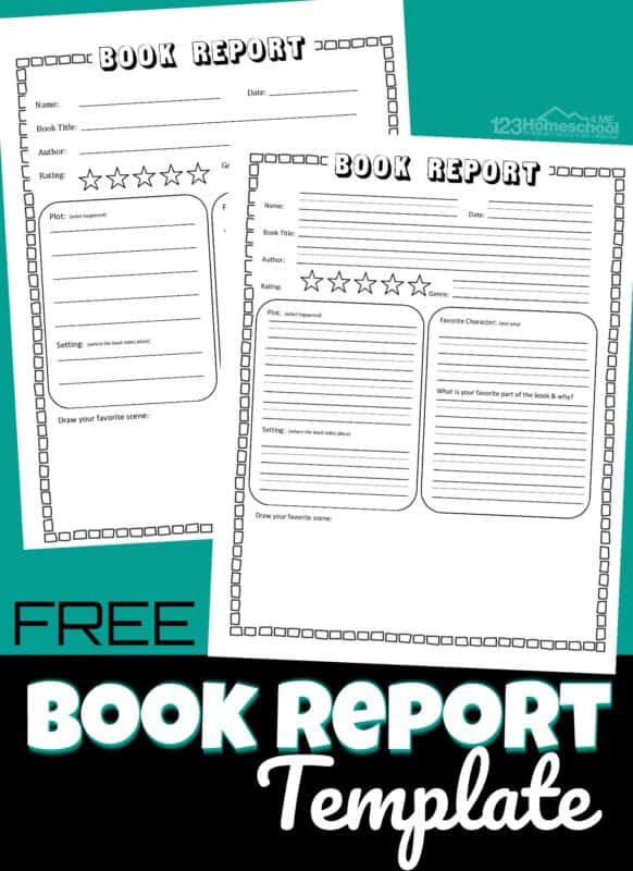 FREE Book Report Template Intended For Story Report Template For Story Report Template