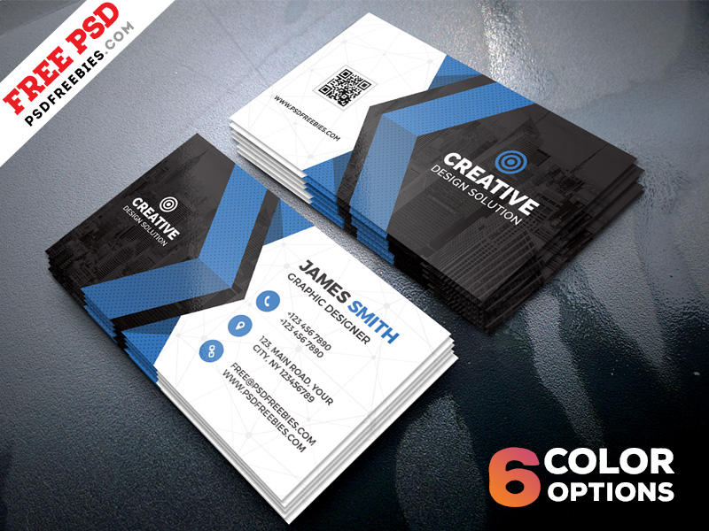 Free Business Cards Templates PSD Bundle  PSDFreebies For Free Bussiness Card Template