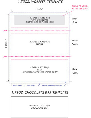 Free chocolate bar template For Blank Candy Bar Wrapper Template For Word With Regard To Blank Candy Bar Wrapper Template For Word