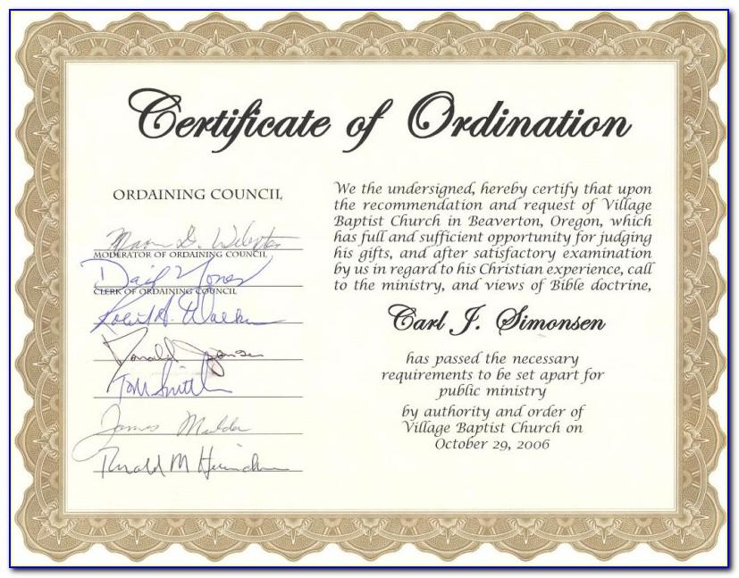 Free Deacon Ordination Certificate Template  vincegray11 Intended For Certificate Of Ordination Template Intended For Certificate Of Ordination Template