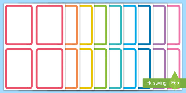 FREE! - Editable Multicolour Card Templates Intended For Free Printable Flash Cards Template Within Free Printable Flash Cards Template