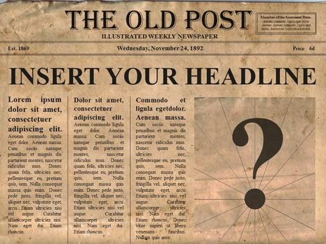 Free Editable Old Newspaper Powerpoint Template Throughout Old Newspaper Template Word Free Intended For Old Newspaper Template Word Free