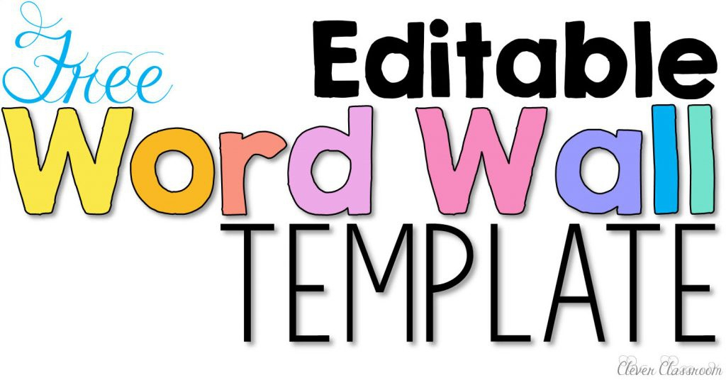 Free Editable Printable Word Wall Templates (Page 11) - Line.11QQ In Blank Word Wall Template Free