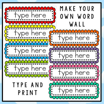 FREE Editable Word Wall Template Intended For Blank Word Wall Template Free Intended For Blank Word Wall Template Free