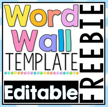 FREE Editable Word Wall Template Throughout Blank Word Wall Template Free In Blank Word Wall Template Free