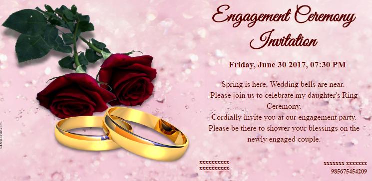 free Engagement Invitation Card Maker & Online invitations Throughout Engagement Invitation Card Template Regarding Engagement Invitation Card Template