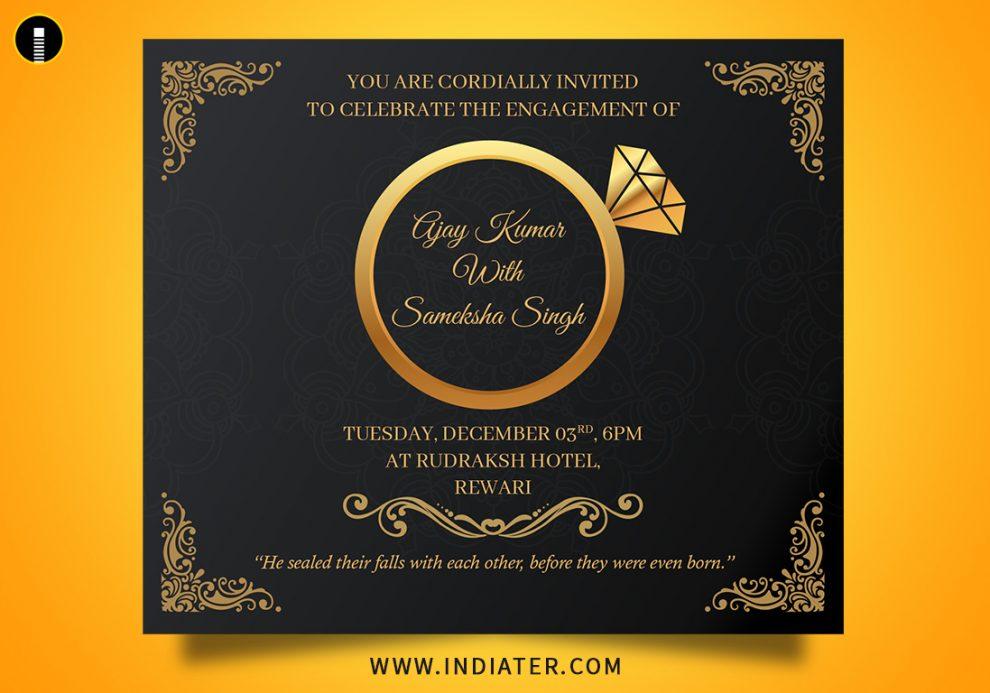 Free Engagement Invitation Templates PSD & AI - Indiater Pertaining To Engagement Invitation Card Template Pertaining To Engagement Invitation Card Template