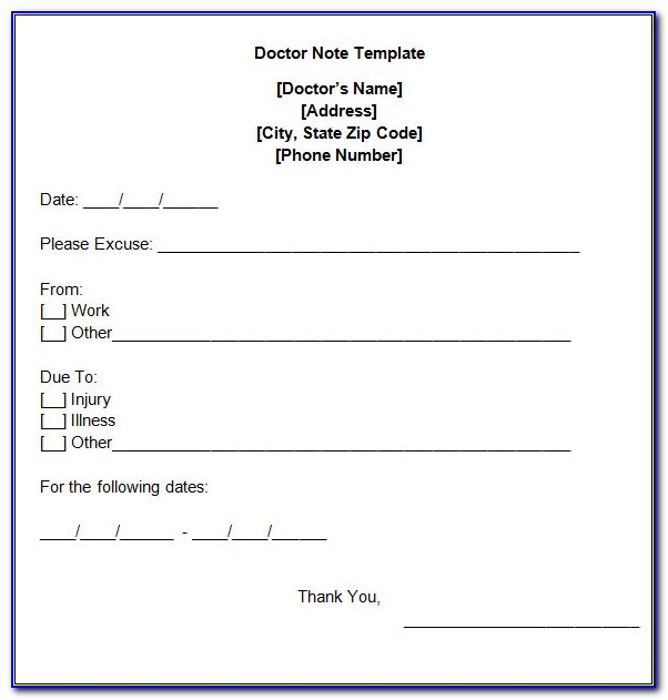 Free Fake Doctors Note Template Download  vincegray11 With Regard To Free Fake Doctors Note Template Download Within Free Fake Doctors Note Template Download