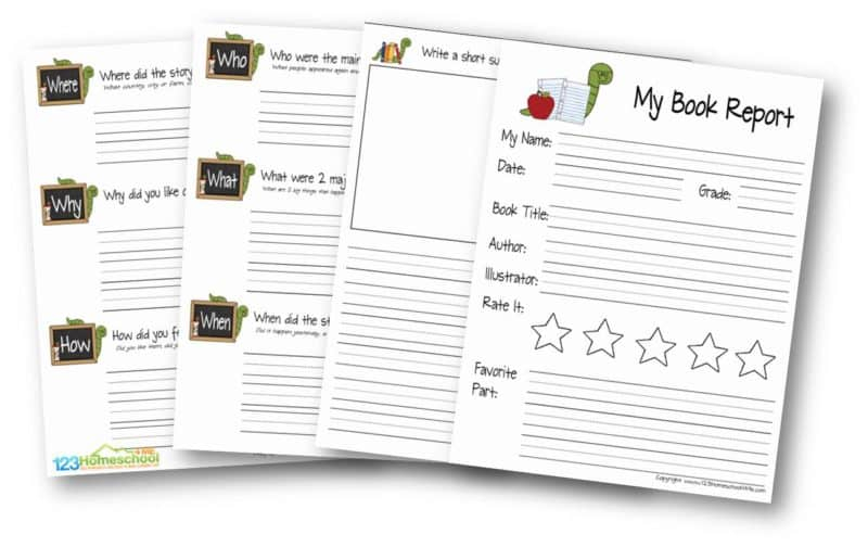 FREE FREE Book Report Template For Second Grade Book Report Template For Second Grade Book Report Template