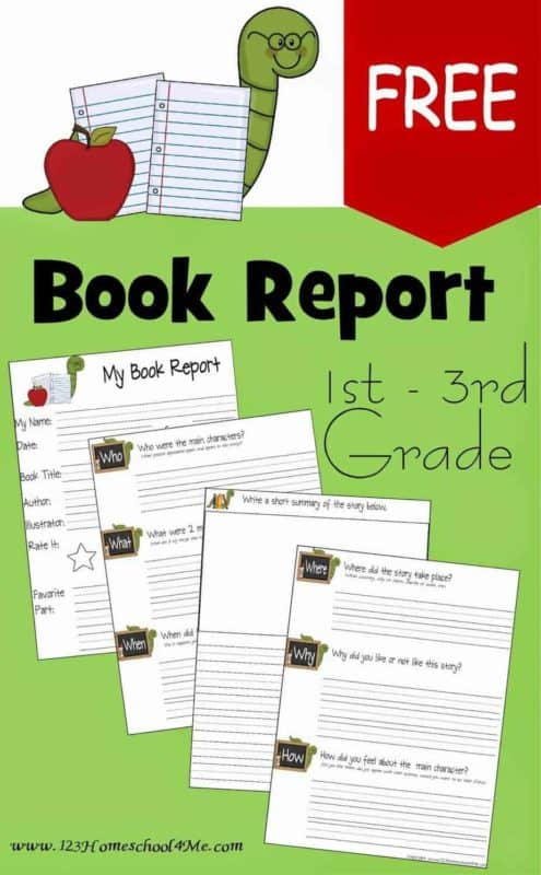 FREE FREE Book Report Template Throughout Book Report Template 3rd Grade With Book Report Template 3rd Grade