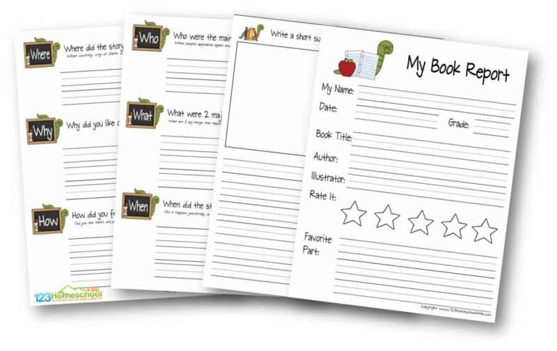FREE FREE Book Report Template In Book Report Template 4th Grade