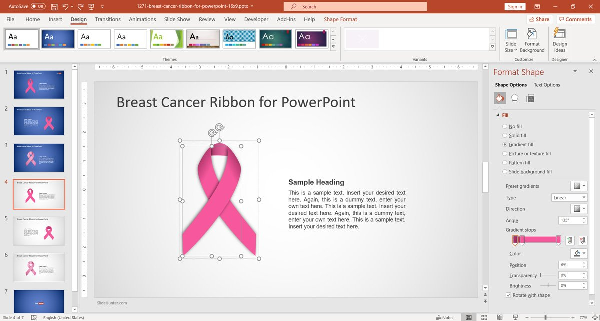 Free Free Breast Cancer Ribbon PowerPoint Template - Free  In Breast Cancer Powerpoint Template Within Breast Cancer Powerpoint Template