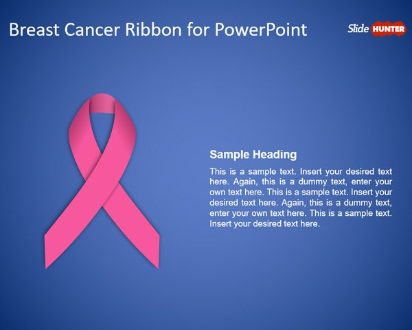 Free Free Breast Cancer Ribbon PowerPoint Template - Free  Regarding Breast Cancer Powerpoint Template Within Breast Cancer Powerpoint Template