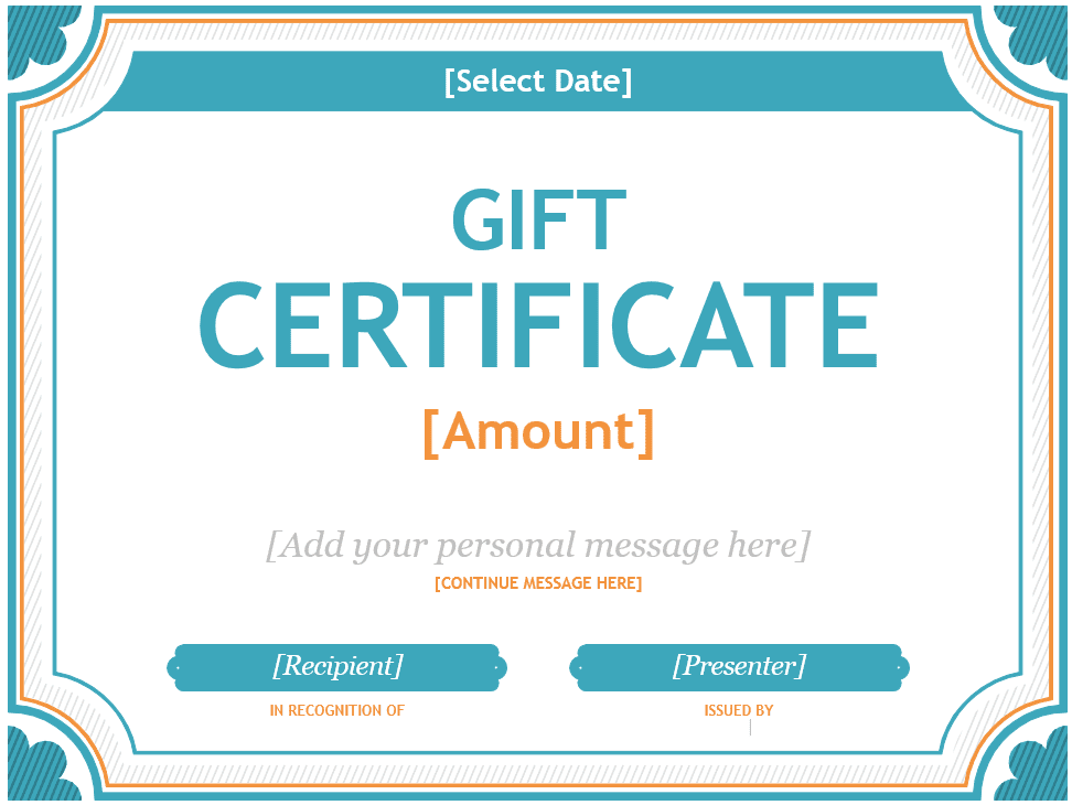 Free Gift Certificate Templates You Can Customize Pertaining To Microsoft Gift Certificate Template Free Word Within Microsoft Gift Certificate Template Free Word