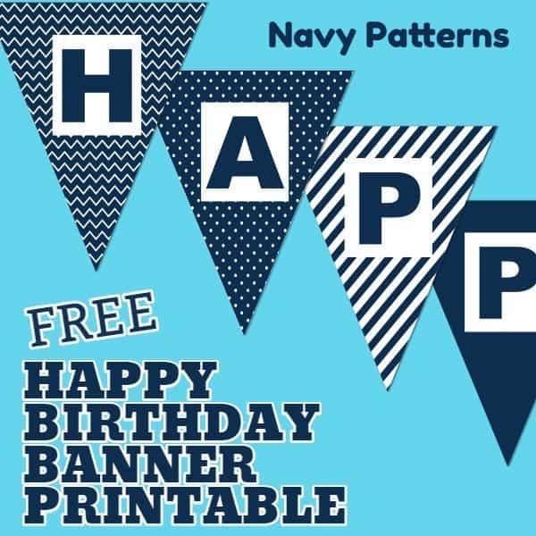 Free Happy Birthday Banner Printable (11 Unique Banners For Your  Intended For Free Printable Happy Birthday Banner Templates Regarding Free Printable Happy Birthday Banner Templates