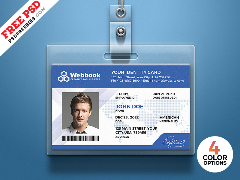Free ID Card Template PSD Set  PSDFreebies Throughout Pvc Id Card Template