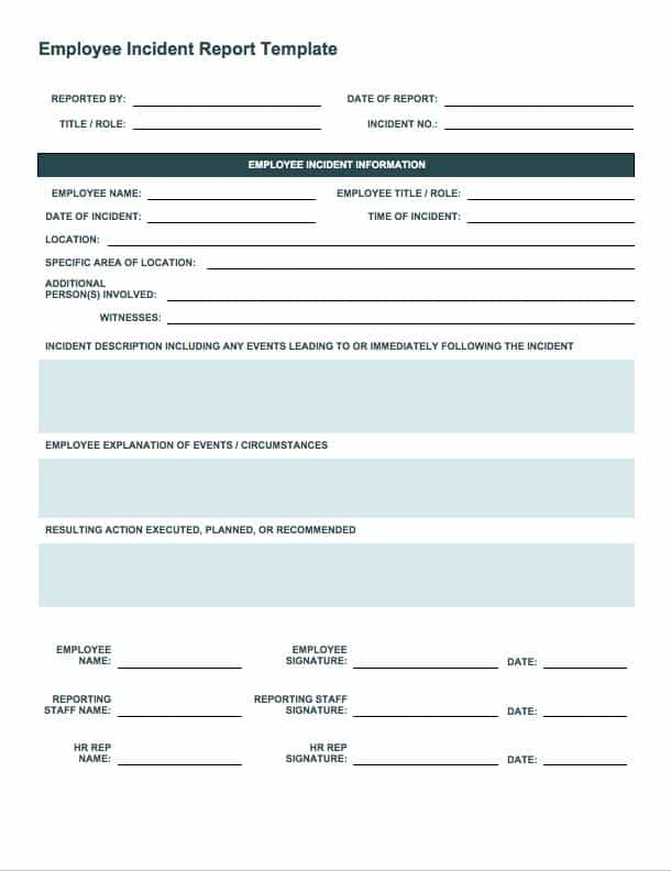 Free Incident Report Templates & Forms  Smartsheet Intended For Incident Report Form Template Word With Incident Report Form Template Word