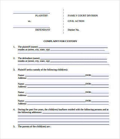 Free Legal Forms - 11+ Free PDF Documents Download  Free & Premium  Pertaining To Blank Legal Document Template Pertaining To Blank Legal Document Template