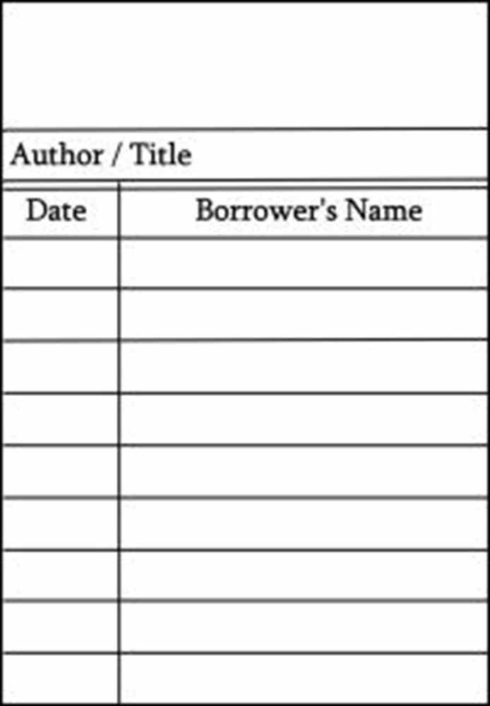 Free Library Card Cliparts, Download Free Clip Art, Free Clip Art  With Regard To Library Catalog Card Template