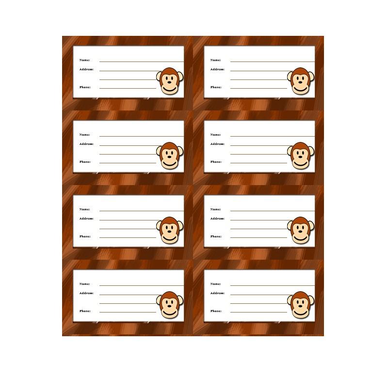 Free Luggage Tag Templates & Samples - PDF, Word With Regard To Luggage Tag Template Word Throughout Luggage Tag Template Word
