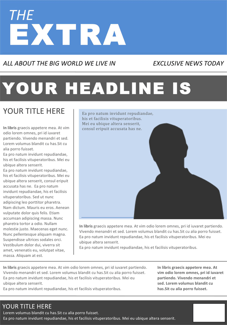 Free Newspaper Template - docx  11KB  11 Page(s) Throughout Blank Newspaper Template For Word Regarding Blank Newspaper Template For Word