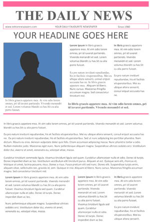 Free Newspaper Template Pack For Word For Blank Newspaper Template For Word