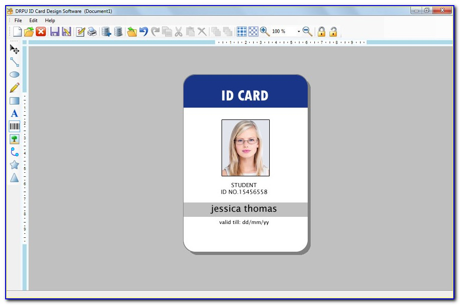 Free Online Employee Id Badge Template  vincegray11 Throughout Employee Card Template Word For Employee Card Template Word