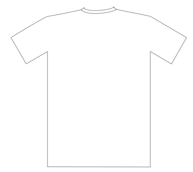 Free Outline Of A T Shirt Template, Download Free Clip Art, Free  For Blank T Shirt Outline Template With Regard To Blank T Shirt Outline Template