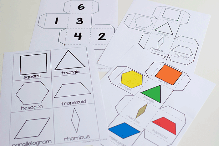 Free Pattern Block Printables for Easy, Low-Prep Kinergarten Math Throughout Blank Pattern Block Templates Intended For Blank Pattern Block Templates