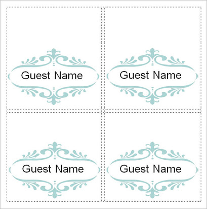 free place card templates 11 per sheet In Place Card Template 6 Per Sheet Regarding Place Card Template 6 Per Sheet