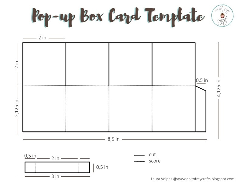 Free Pop-Up Box Card Template - Laura Volpes With Regard To Pop Up Box Card Template With Pop Up Box Card Template