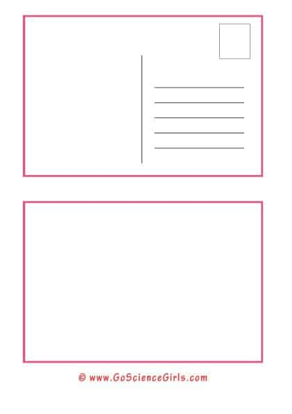 Free Postcard Template for Kids (For Christmas, School & Thank You  Regarding Free Blank Postcard Template For Word Within Free Blank Postcard Template For Word