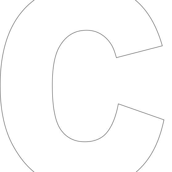 Free Printable Alphabet Template Upper Case Inside Large Letter C Template With Large Letter C Template