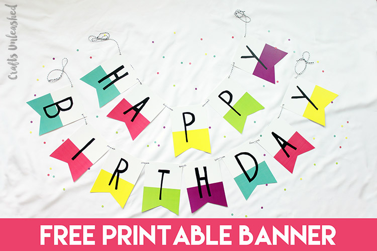 Free Printable Banner: Happy Birthday Pennants - Consumer Crafts With Free Happy Birthday Banner Templates Download Intended For Free Happy Birthday Banner Templates Download