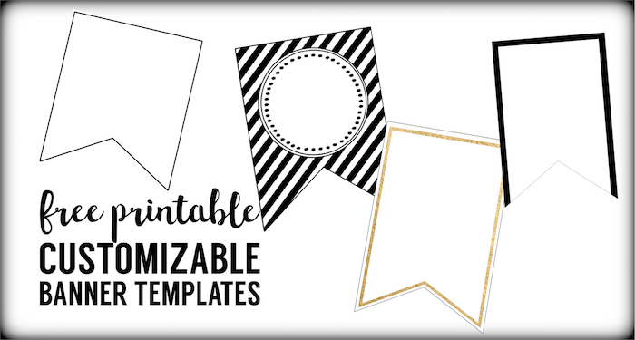 Free Printable Banner Templates Blank Banners  Paper Trail Design For Triangle Pennant Banner Template