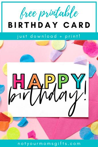 Free Printable Birthday Card (Half-Fold)  Not Your Mom