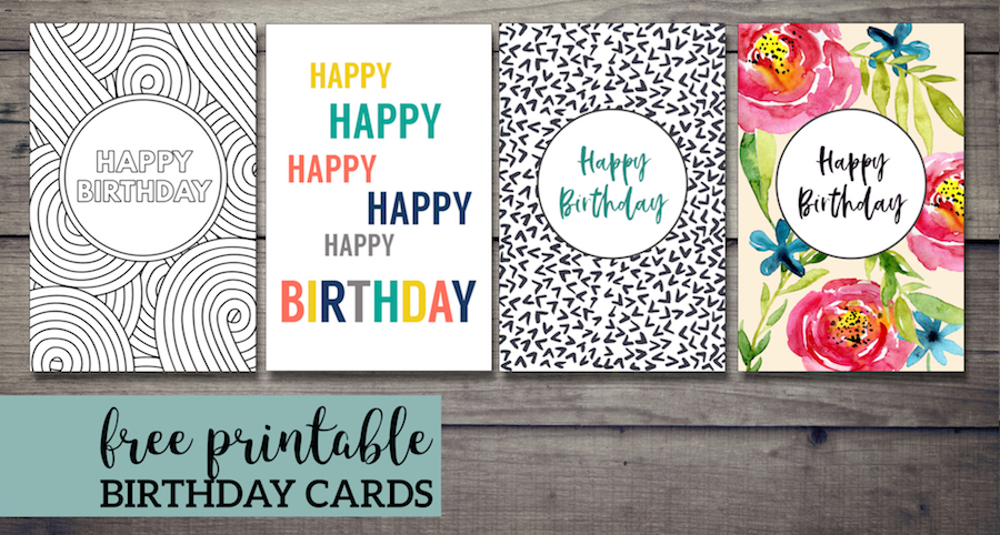 Free Printable Birthday Cards  Paper Trail Design With Regard To Foldable Birthday Card Template With Regard To Foldable Birthday Card Template