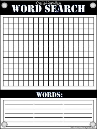 Free printable blank word search grids Within Blank Word Search Template Free For Blank Word Search Template Free