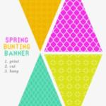 Free Printable Bunting Banner - Free Printable Bunting Flag  Regarding Free Printable Pennant Banner Template