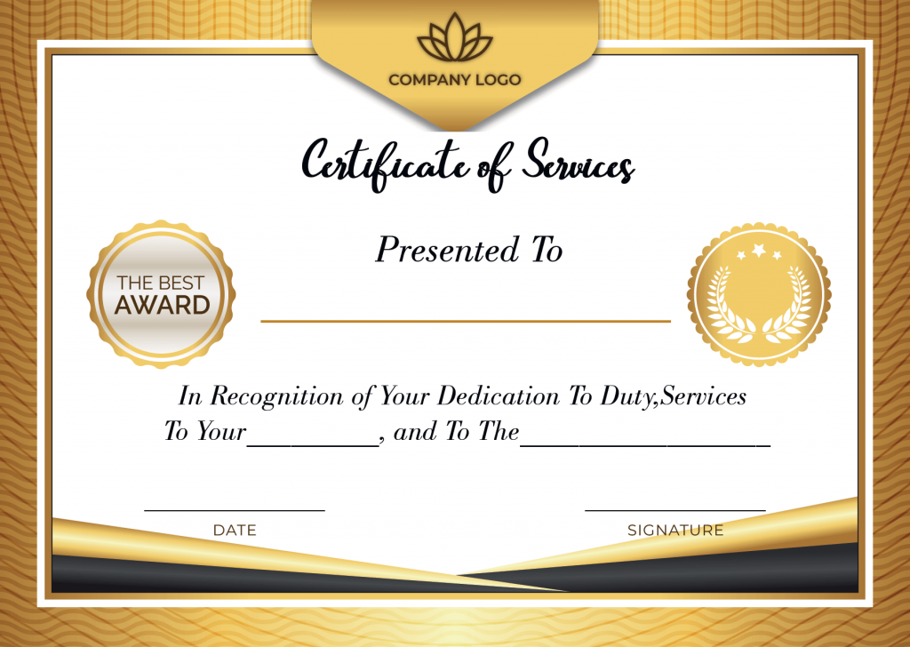 Free Printable Certificate of Service Template  Certificate Template Intended For Certificate Of Service Template Free Inside Certificate Of Service Template Free