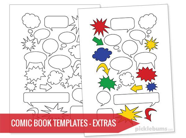 Free Printable Comic Book Templates! - Picklebums Inside Printable Blank Comic Strip Template For Kids In Printable Blank Comic Strip Template For Kids