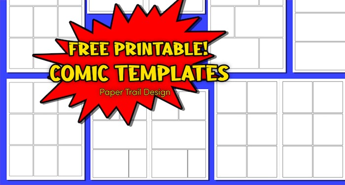 Free Printable Comic Strip Template Pages  Paper Trail Design For Printable Blank Comic Strip Template For Kids