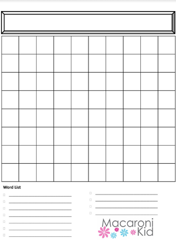 Free Printable! Create Your Own Personalized Word Search  Inside Blank Word Search Template Free For Blank Word Search Template Free