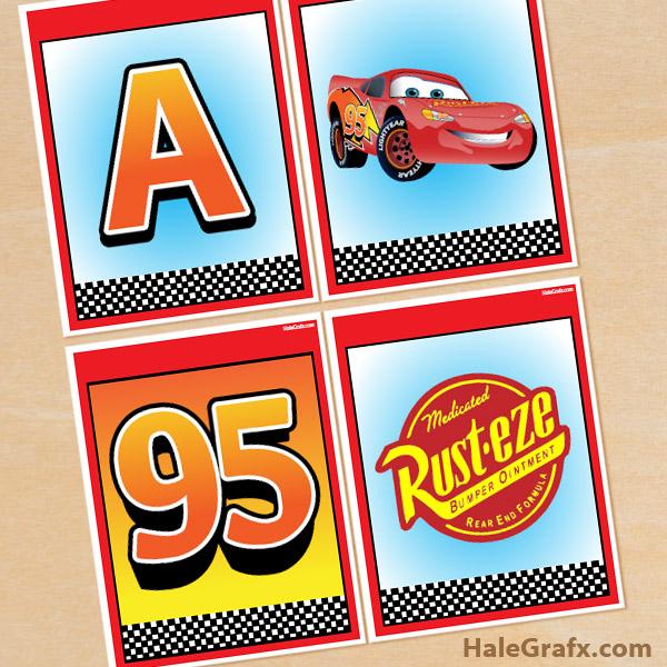 FREE Printable Disney Cars Alphabet Banner Pack Inside Cars Birthday Banner Template Intended For Cars Birthday Banner Template